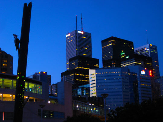 Toronto city center at night